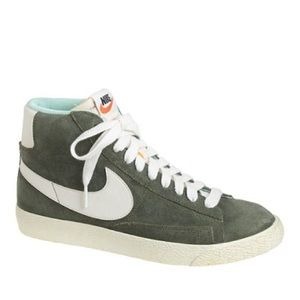 Forest Green Nike Suede High Top Sneakers